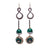 Malachite and Pyrite Mosaic Earrings