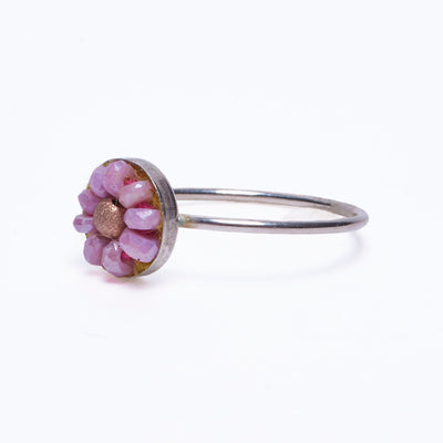 pink sapphire and rose gold ring