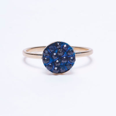 blue moxie ring w/ gold band