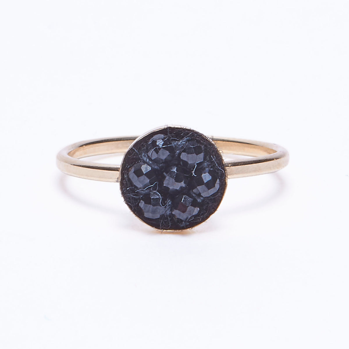 black moxie ring w/ gold band