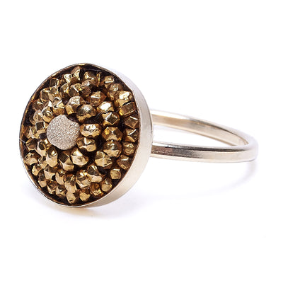 Gold Metallic Mosaic Ring