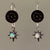 Stars in the Night Sky (opal and topaz earrings)