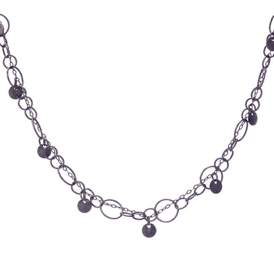 Fire & Ice Oxidized Silver Bracelet/Necklace (Ice)