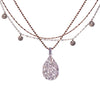 Fire & Ice Diamond Pendant Necklace (Ice)