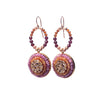 Fire & Ice Diamond Mosaic Earrings , 20mm (Fire)