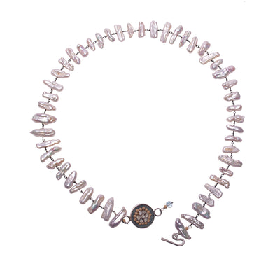 Fire & Ice Freshwater Pearl Bracelet/Necklace (Ice)