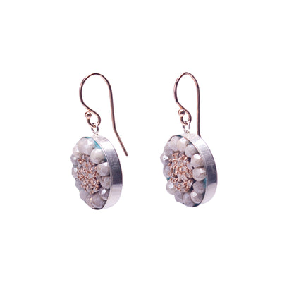 Fire & Ice Diamond Mosaic Earrings (Ice)