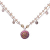 Fire & Ice Diamond Mosaic Necklace, 17mm (Fire)