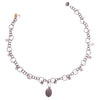 Fire & Ice Diamond Mosaic Necklace, Oval (Fire)