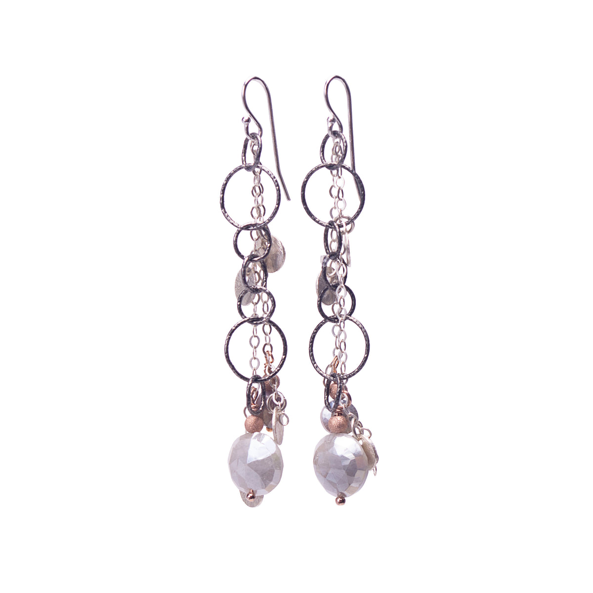 Fire & Ice Labradorite Earrings (Ice)