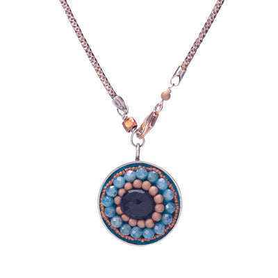 Fire & Ice Double-Sided Pendant Necklace, 24mm (Fire & Ice)