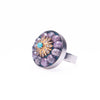 Fire & Ice Diamond Mosaic Ring, 24mm (Ice)