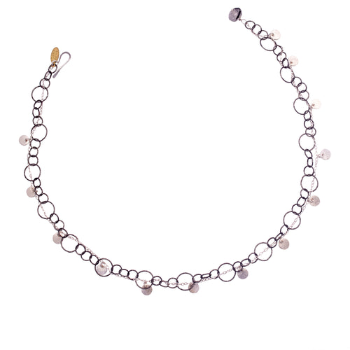 Fire & Ice Sterling Silver Bracelet/Necklace (Ice)