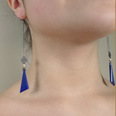 Lapis and Diamonds my dahlink earrings