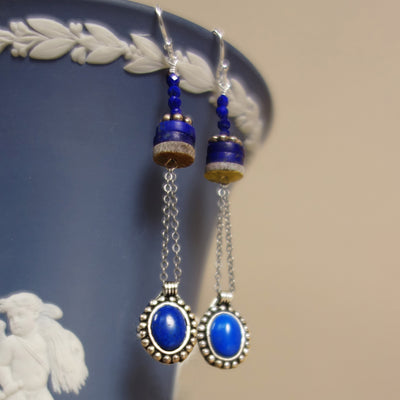 In the Early Morning Rain lapis earring