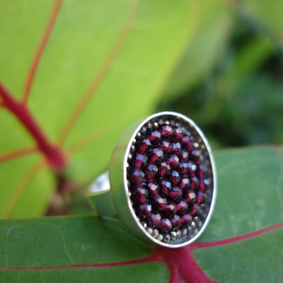 Garnet Iconic Mosaic Ring