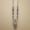 Lifegiving Lovebirds: handmade Greek silver and sapphire