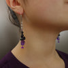 She's Regal, YES amethyst and black tourmaline earring