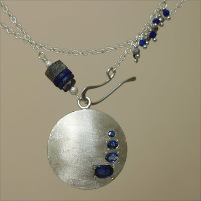 Timeless Sapphires in Silver necklace