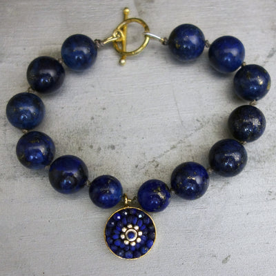 Love Me some Lapis mosaic bracelet
