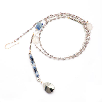 Arzouman Luxe Faceted Blue Sapphire, Pyrite, and Labradorite Necklace
