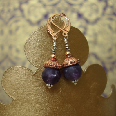 Emma amethyst earrings
