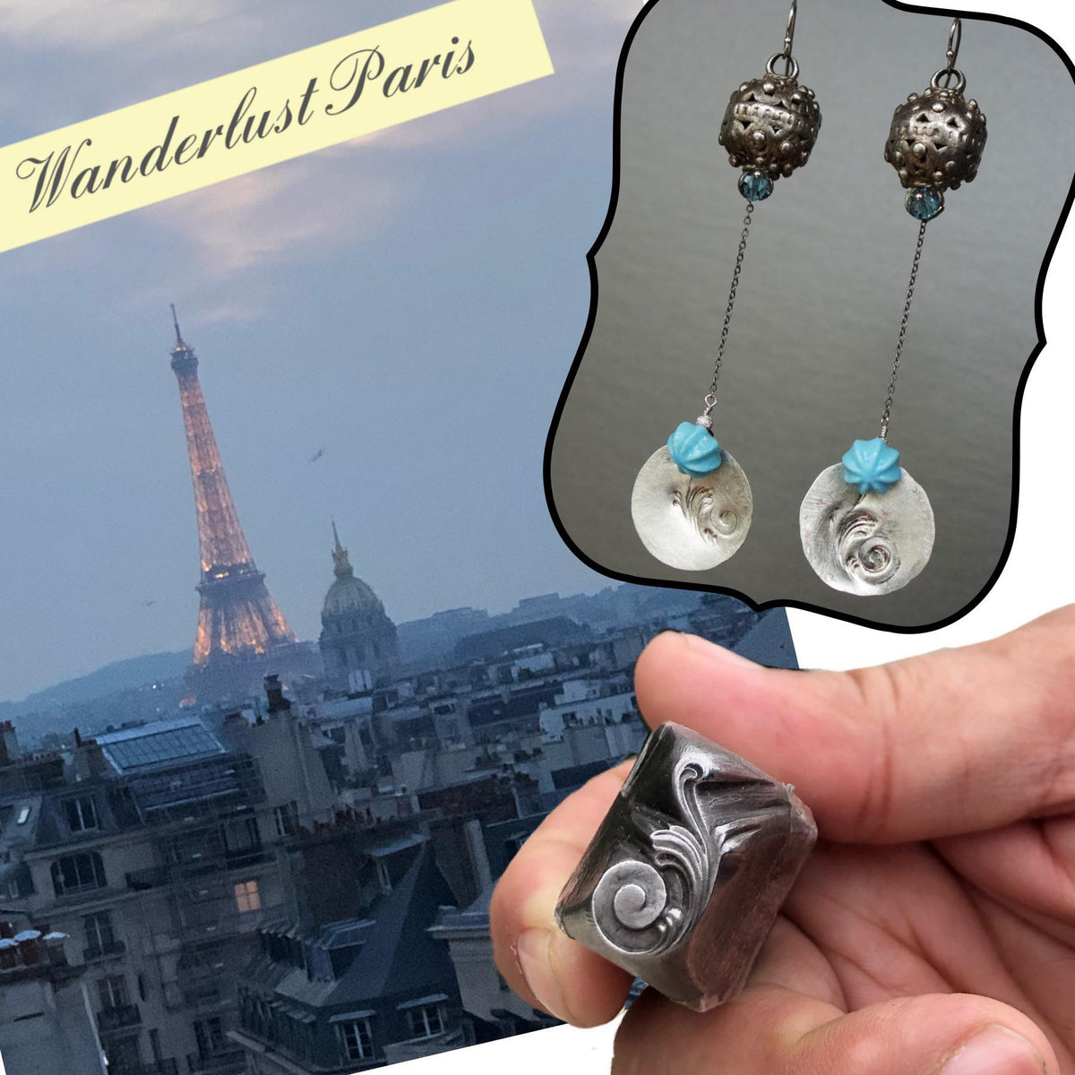 Edith Piaf's Paris Earrings (Wanderlust Paris)