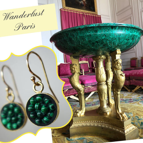 Moxie Malachite Mosaic Earrings (Wanderlust Paris)