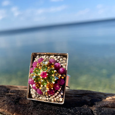 Ruby, Don't Take Your Love to Town (fully adjustable ring)