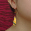 He Serenaded Her for 40 Days: ruby + bumblebee jasper earrings