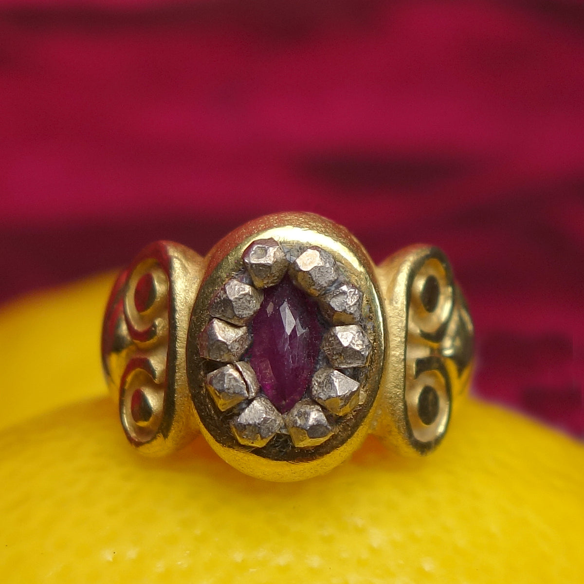 Ruby and Gold Byzantium ring