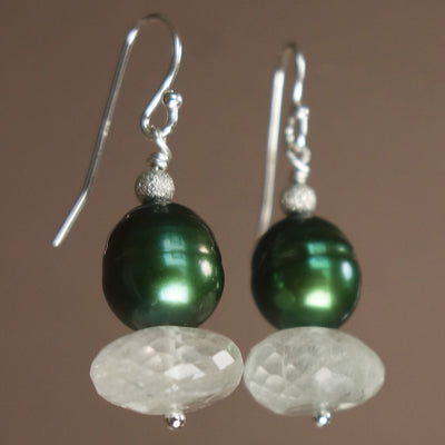 South Sea Emerald Pearl with Aquamarine