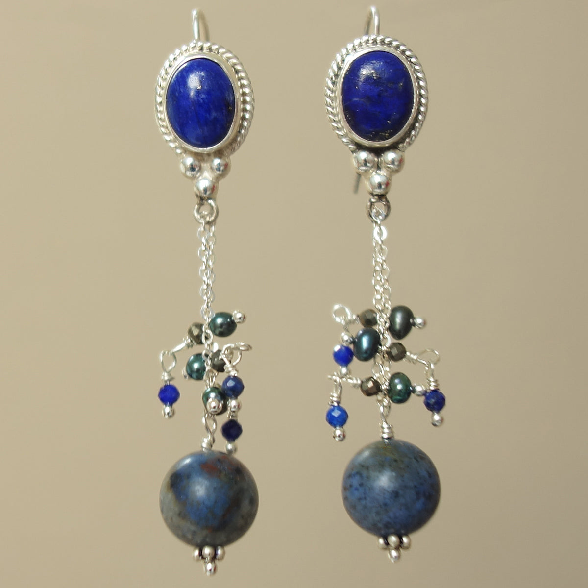 Calling All Angels lapis earring