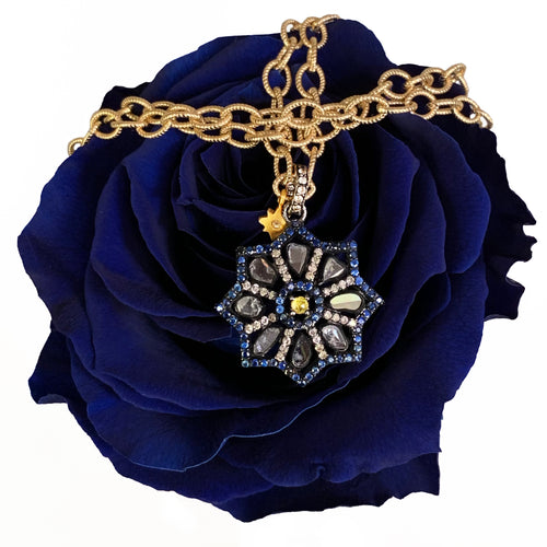 Sunday Kind of Love diamond and sapphire necklace
