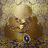 Tears of Joy: amethyst, ruby, and garnet teardrop pendant necklace