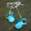 Stones on the Water earring