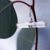 Natural Clear Quartz in wrapped Silver or Gold earring