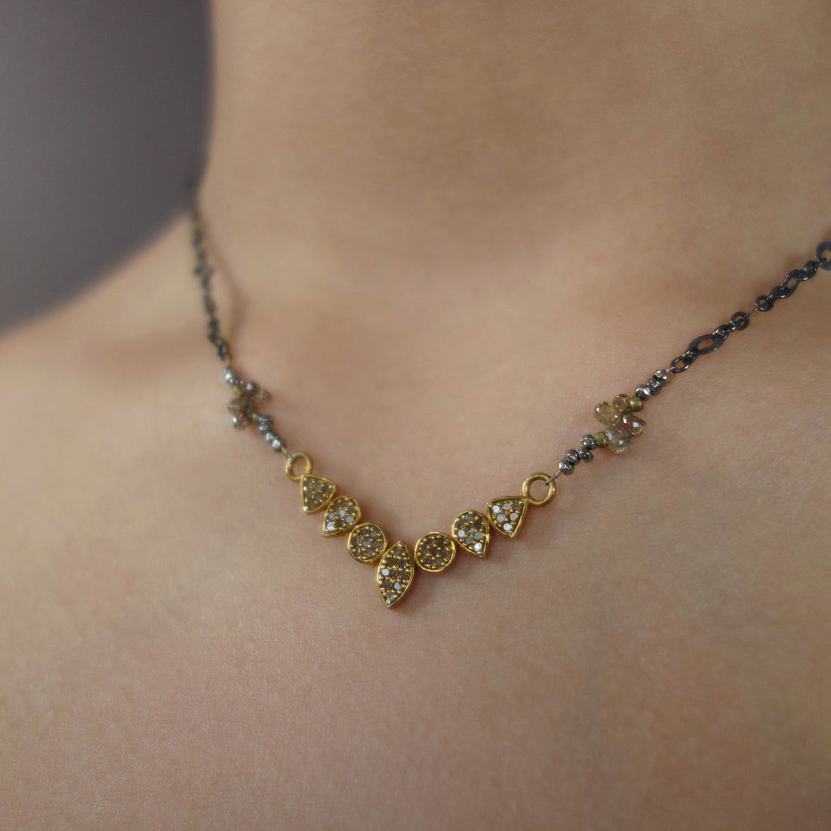 Dream a Little Dream of Me (diamonds and gold necklace)