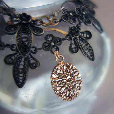 How Beautiful is My Love (diamonds, rose gold, and Greek filigree necklace)