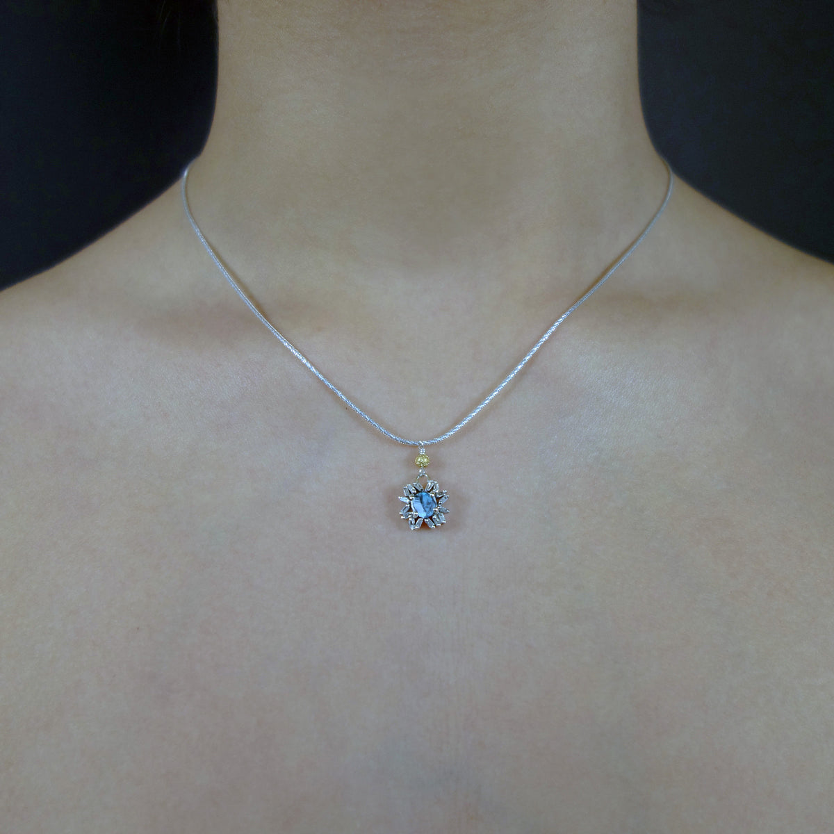 April, Come She Will diamond necklace