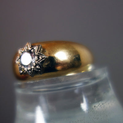 We are Starlight, We are Golden: diamond, silver and gold ring