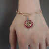 Rubies, Diamonds, and Rose Gold O My bracelet