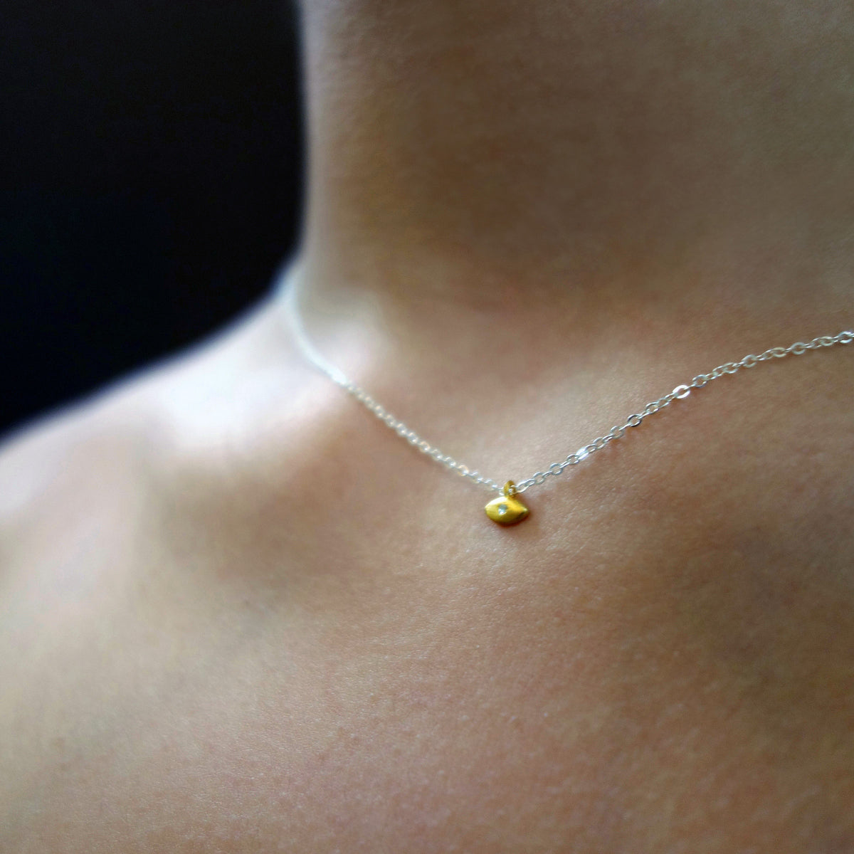 FEATURED PIECE: I Can See Clearly Now (diamond in golden eye necklace)