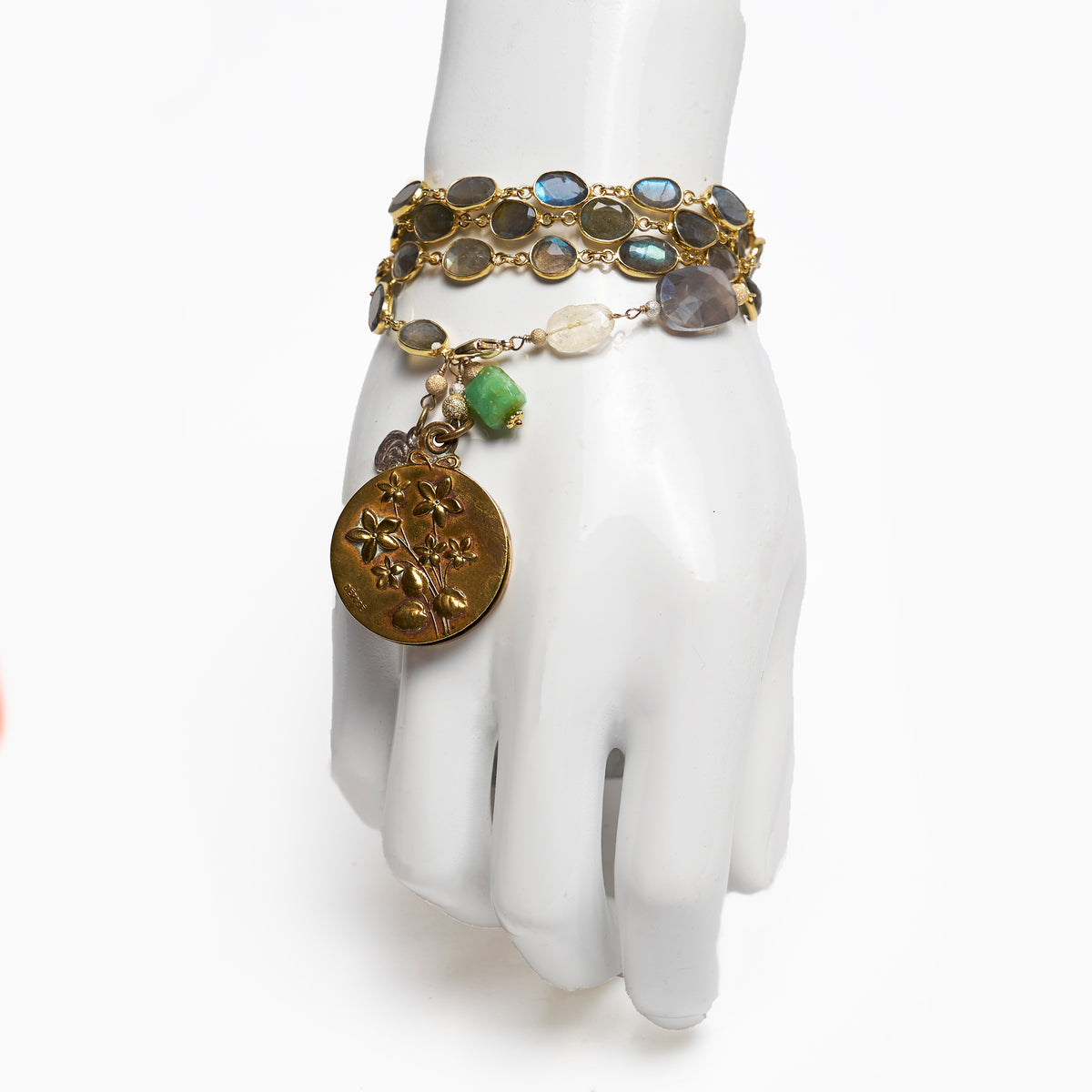 Peridot and Paris necklace/wrap bracelet