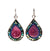 Rubylicious Teardrop Mosaic earrings