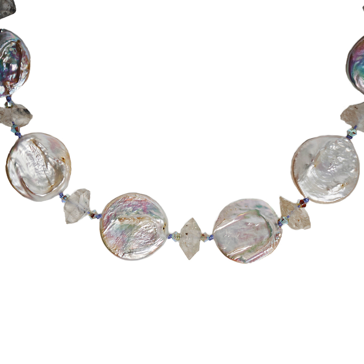 The Calm after the Storm necklace (with Herkimer diamonds)