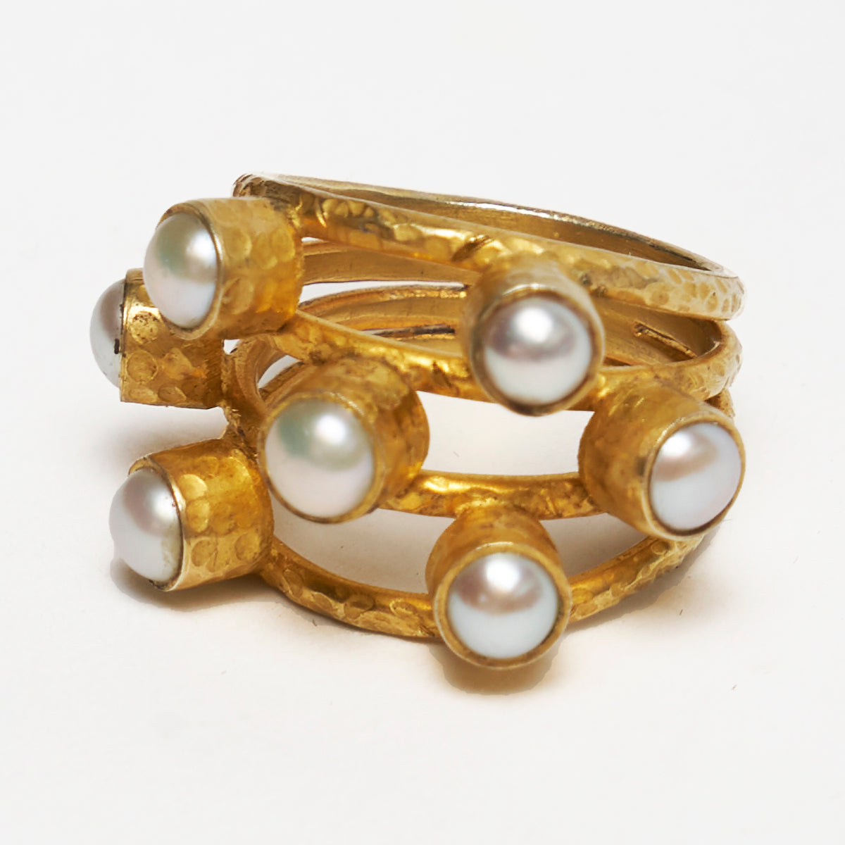 Pearl, Gold, and Fabulousness ring