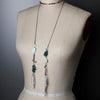 Opal, Sapphire, Tourmaline and Pearls Wrap Necklace