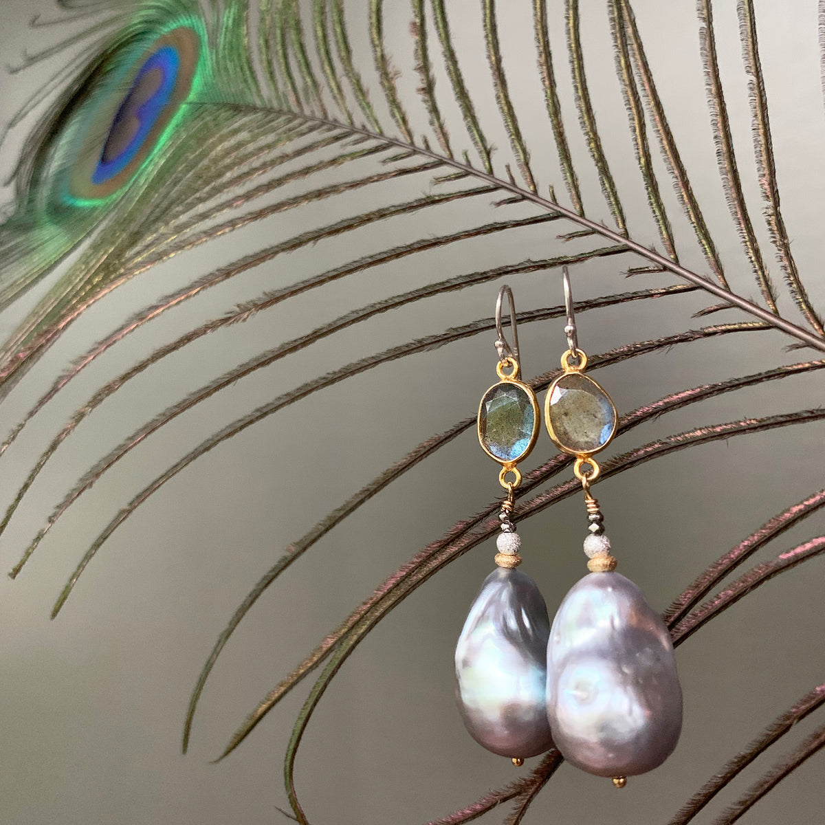 Luscious Mabé Pearl and Labradorite