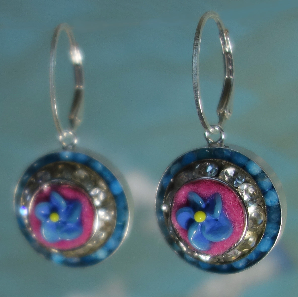 Whisper Me Sweet Nothings aquamarine/Czech glass earrings